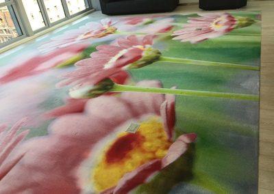 flower rug after