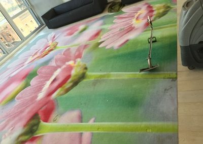 flower rug before